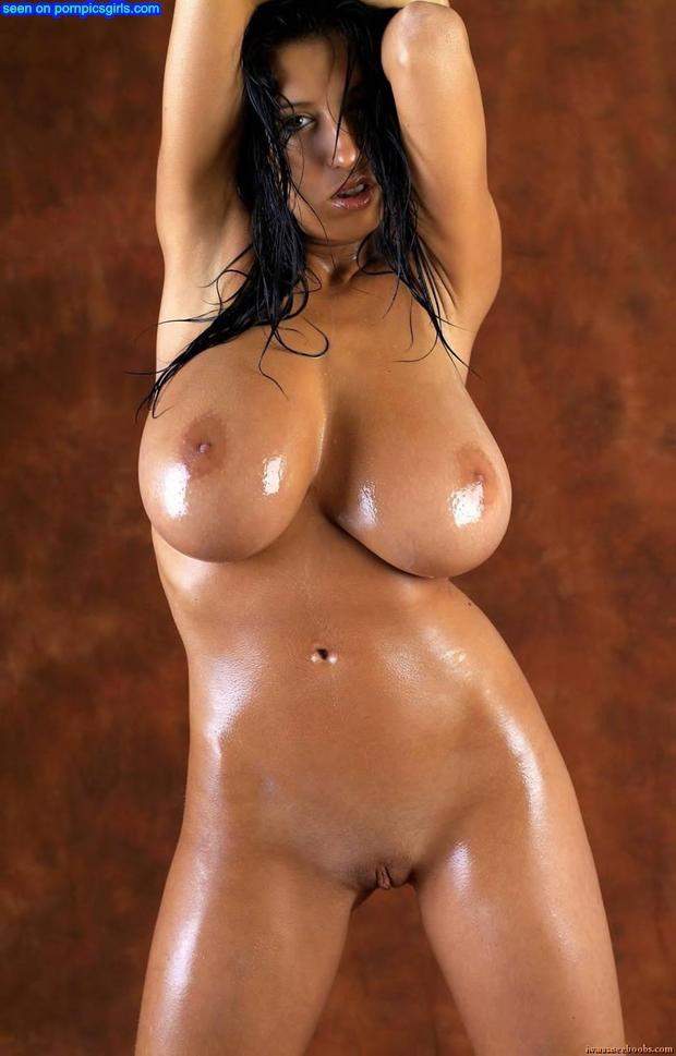 Huge Oily Black Tits
